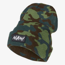 Nebelkind Folded Beanie Camouflage with Logo in camouflage