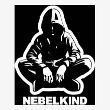 "Nebelkind Car Sticker ""Human"" with Logo big, white in white"