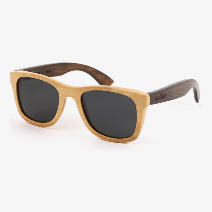 Nebelkind Bamboobastic nature/darkbrown Sunglasses FSC®-certified in Frame natural-colored /  Temples stained dark brown