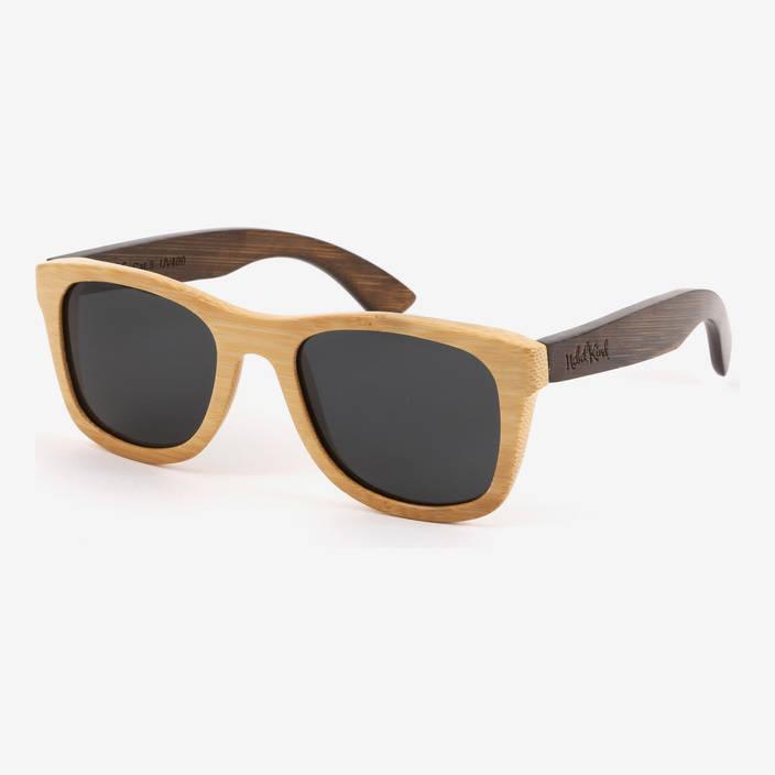 Nebelkind Bamboobastic Natur / Dunkelbraun Sonnenbrille, FSC®-zertifiziert in Rahmen naturfarben /  Bügel dunkelbraun gebeizt