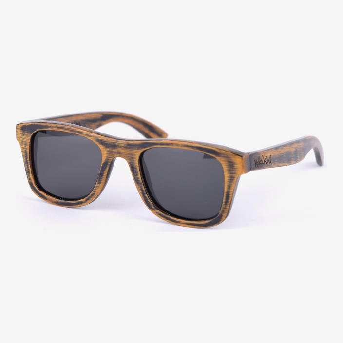 """Nebelkind Bamboobastic """"Used"""" Sunglasses in dark brown used look"""