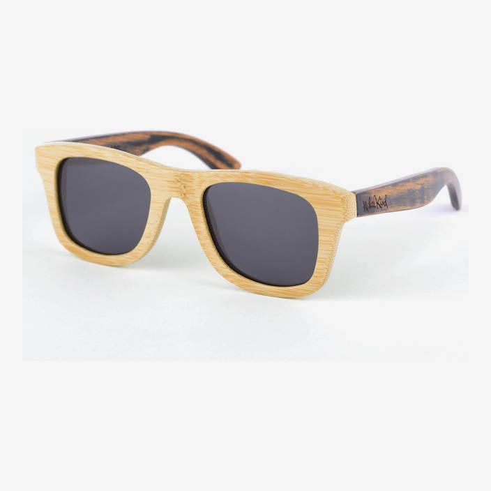 Nebelkind Bamboobastic Natur / Used-Look Sonnenbrille, FSC®-zertifiziert in Rahmen naturfarben /  Bügel used-look