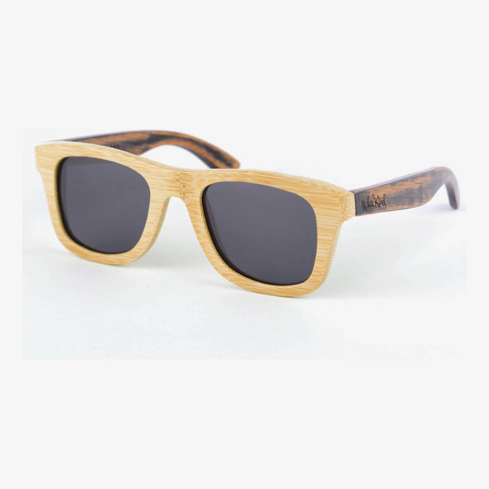 Nebelkind Bamboobastic nature/used-look Sunglasses FSC®-certified in Frame natural-colored /  Temples used-look