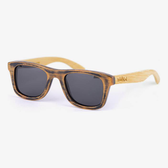 Nebelkind Bamboobastic Used-Look / Natur Sonnenbrille in Rahmen used-look /  Bügel naturfarben