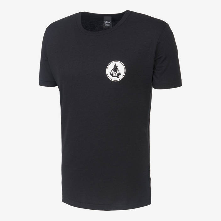 Nebelkind Basic Bamboo Shirt Male Black in black