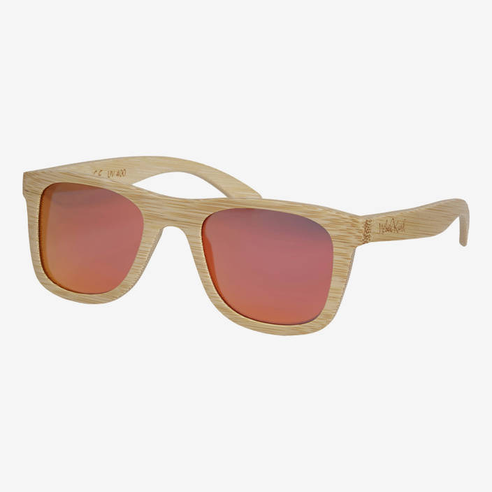Nebelkind Bamboobastic nature (red mirrored) Sunglasses in Natural-colored bamboo
