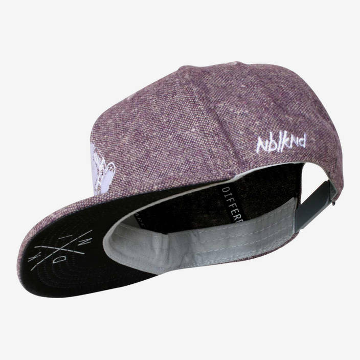 Nebelkind Pink Beast Snapback in berry color
