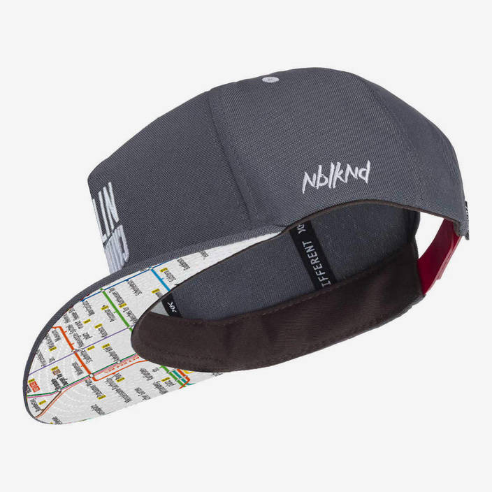 Nebelkind Berlin Calling Snapback in gray