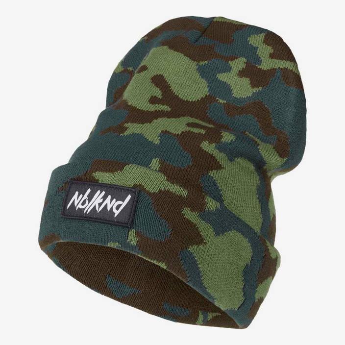 Nebelkind Folded Beanie Camouflage mit Logo in camouflage