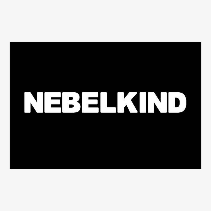 "Nebelkind Car Sticker ""Nebelkind"" small, white in white"