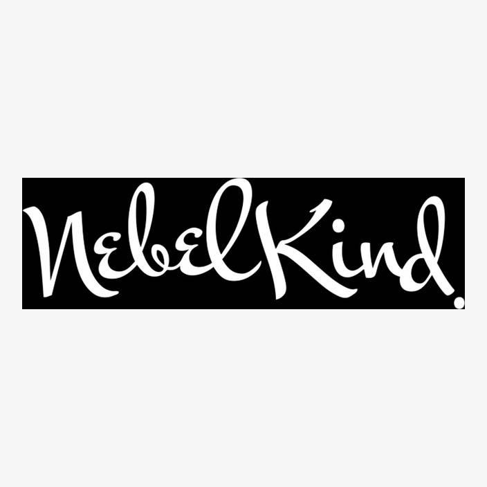 """Car Sticker """"Nebelkind"""" small, white in white"""
