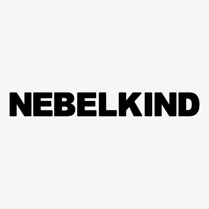 "Nebelkind Car Sticker ""Nebelkind"" big, black in black"