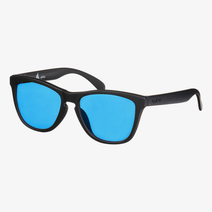 Nebelkind Suntastic Black (Blue Mirrored) Sunglasses in black
