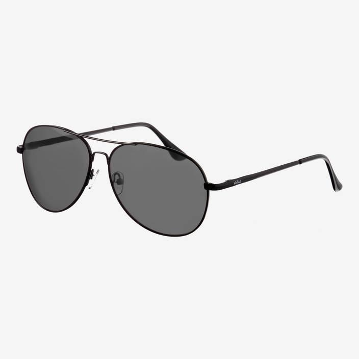 Nebelkind Pilotastic Schwarze Sonnenbrille in Rahmen und Bügel schwarz
