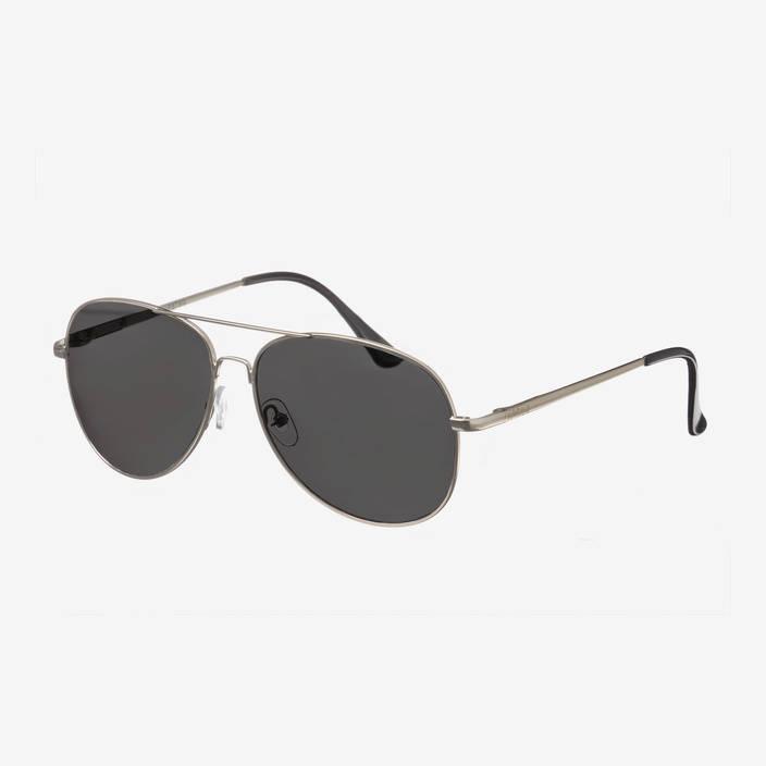 Nebelkind Pilotastic Silberne Sonnenbrille in Rahmen und Bügel silber