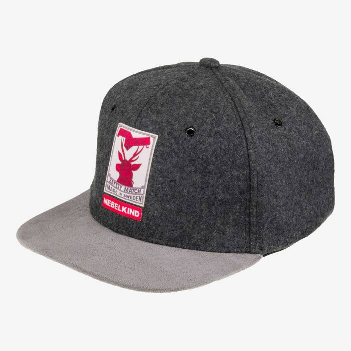 Nebelkind The Stag Snapback in graumeliert