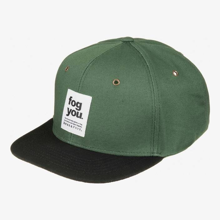 Nebelkind Chave Snapback in olive green