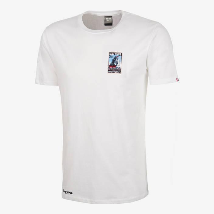 "Nebelkind Shirt ""Matchbox Navycut"" Male in white"