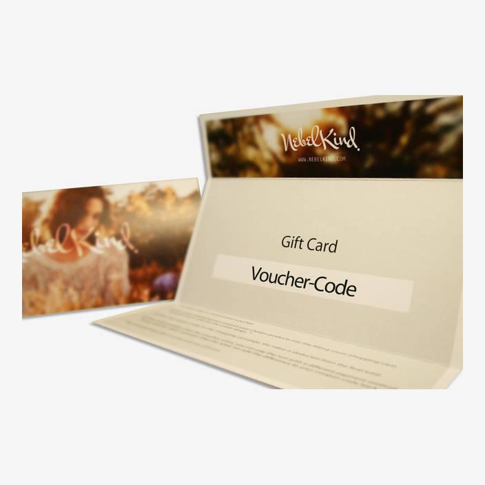 """Nebelkind Geschenkkarte """"Verträumt"""" in beige"""