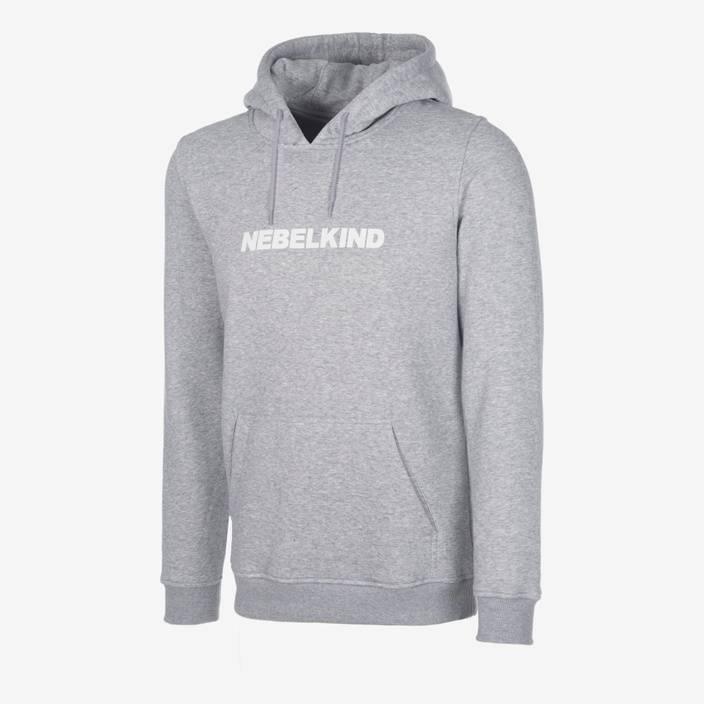 """Nebelkind Slim Hoodie """"No Design"""" Grau in hellgrau"""