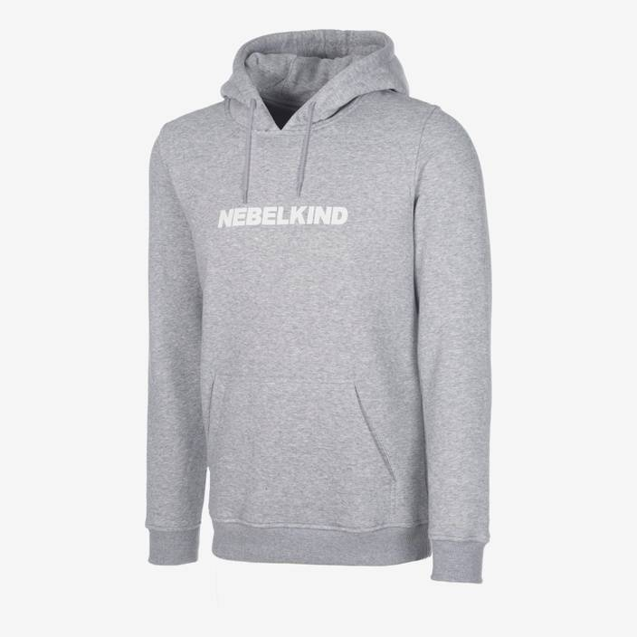 """Nebelkind Slim Hoody """"No Design"""" Grey in light gray"""