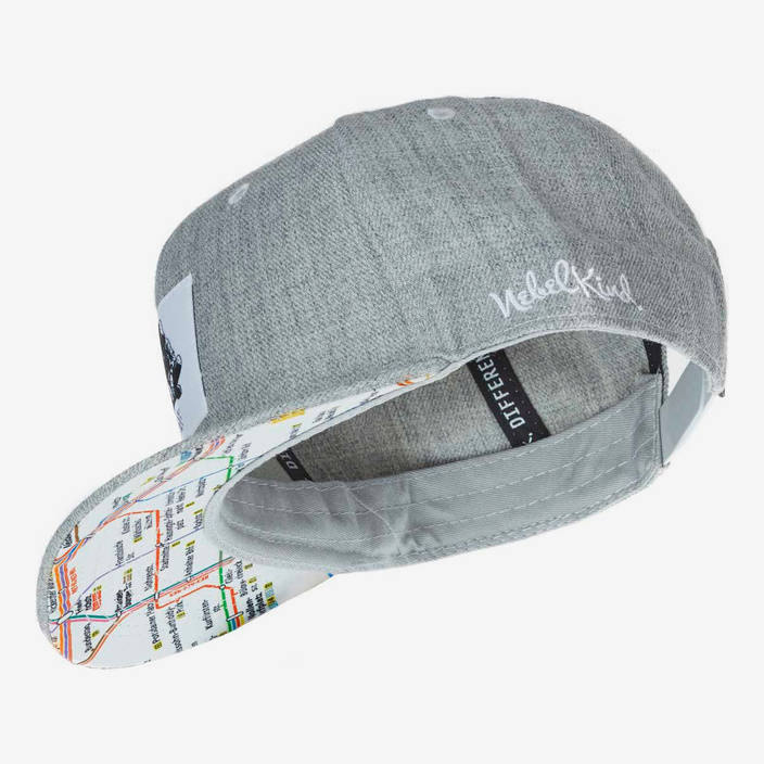 Nebelkind Berlin Snapback in gray