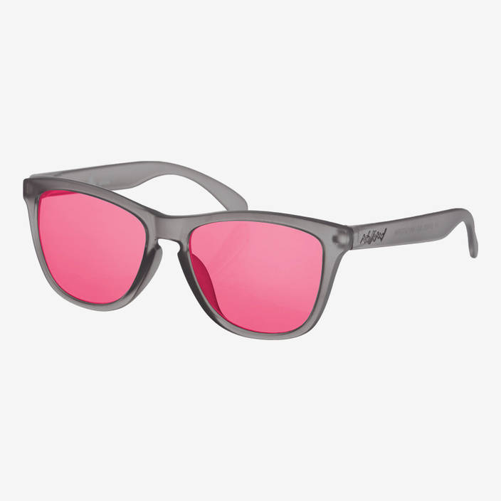 Nebelkind Suntastic Smoke Grey (Red Mirrored) Sunglasses in gray