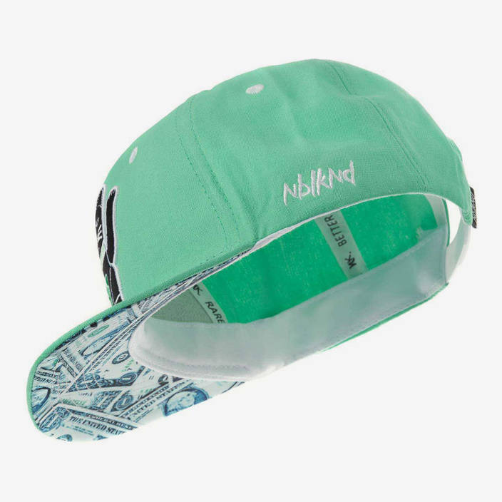 Nebelkind Maneki-neko Snapback in mintgreen