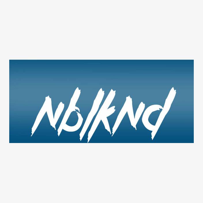 "Car Sticker ""NBLKND"" small, white in white"