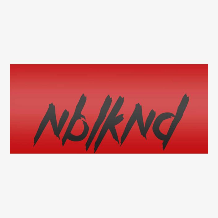 "Car Sticker ""NBLKND"" small, black in black"