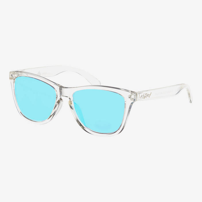 Nebelkind Suntastic Clear (Lightblue mirrored) sunglasses in transparent