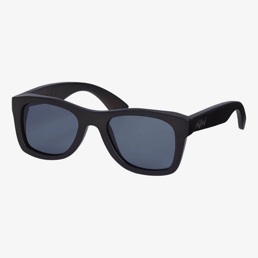 """Nebelkind """"Pitch-Black"""" Wooden Sunglasses in stained black-brown"""