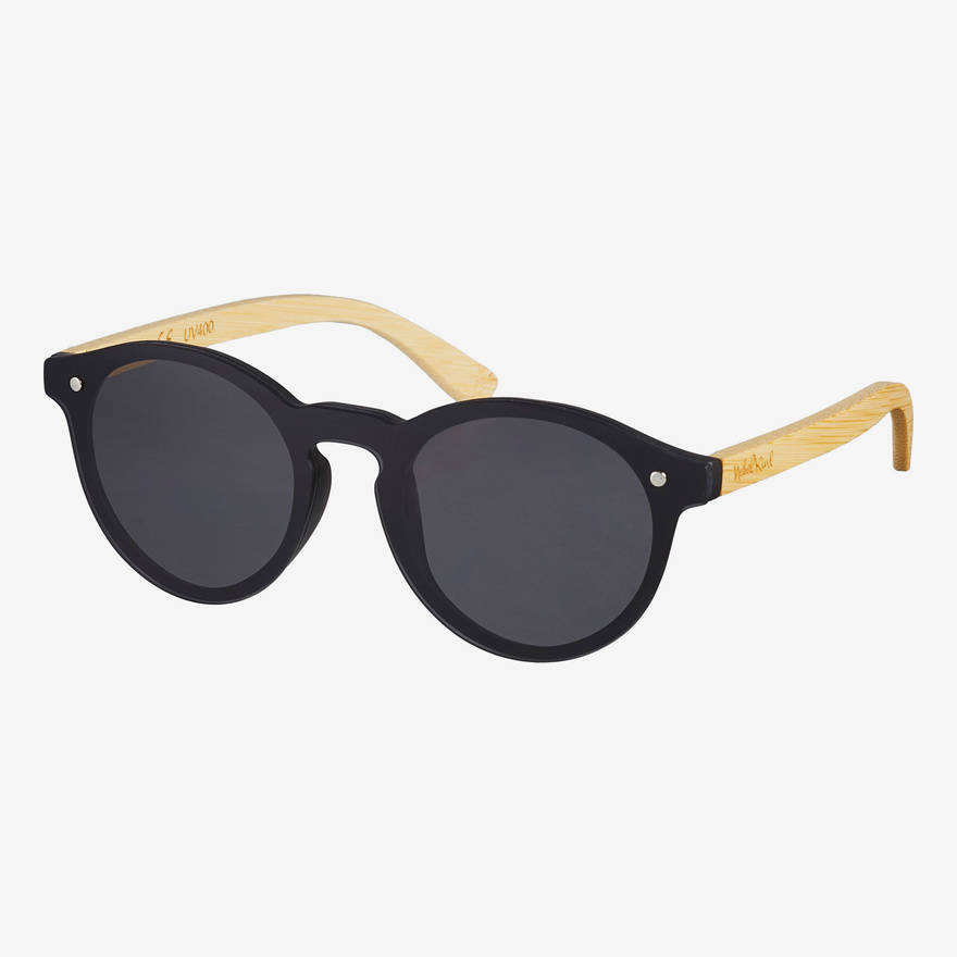 Nebelkind Hybrid Bamboo Sunglasses in Natural-colored bamboo