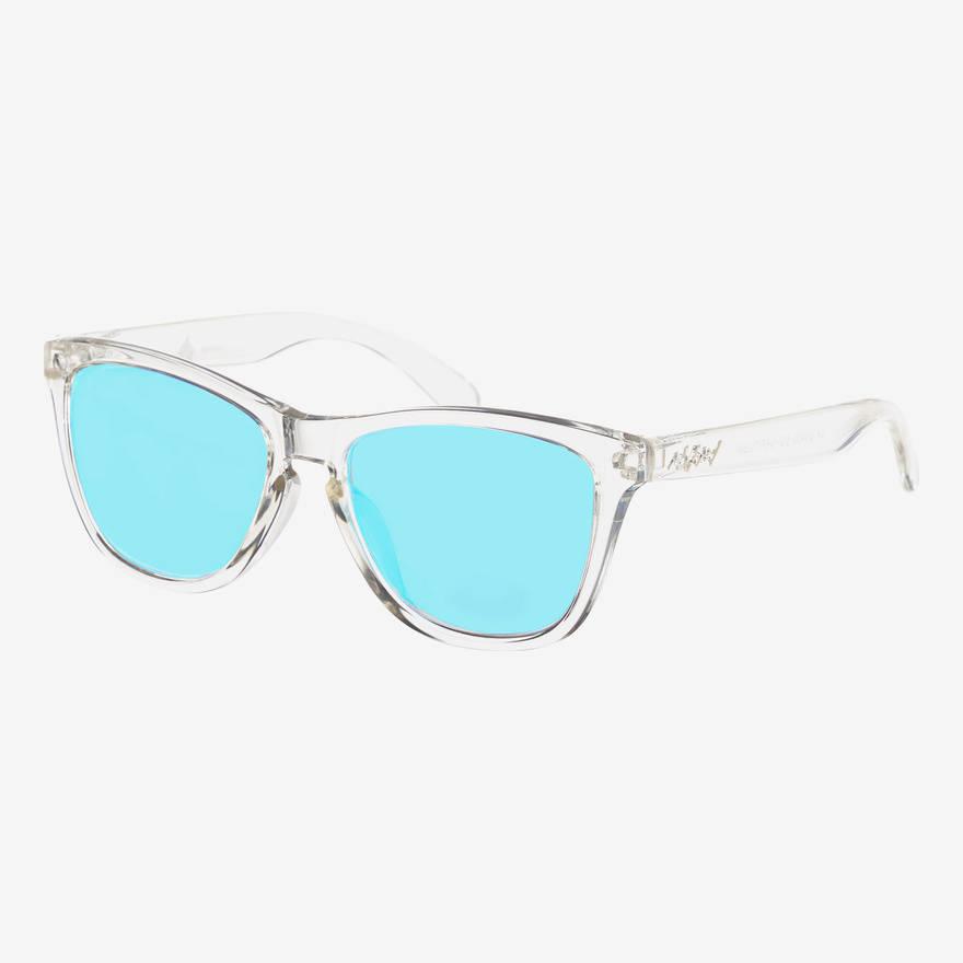 Nebelkind Suntastic Clear (Lightblue mirrored) sunglasses in transparent