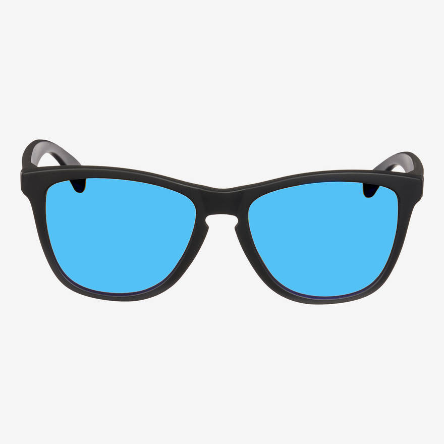 Nebelkind Suntastic Black (Blue Mirrored) Sunglasses in black