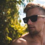 Nebelkind Bamboobastic darkbrown/nature Sunglasses in Frame stained dark brown /  Temples natural-colored