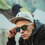 Nebelkind Bamboobastic darkbrown (green mirrored) Sunglasses FSC®-certified in Stained dark brown