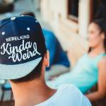 Nebelkind TheWeird Rotated Snapback in dark blue