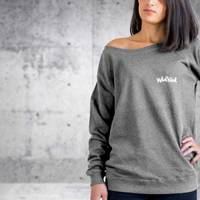Nebelkind Raglan Sweater Female Anthracite in anthracite