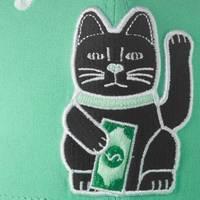 Nebelkind Maneki-neko Snapback in mintgreen