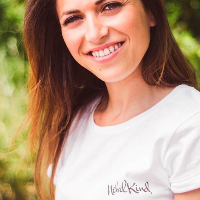 Nebelkind Basic Shirt Aufgerollte Ärmel Weiß Frauen in weiß