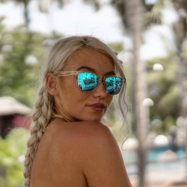 Nebelkind Suntastic Clear (hellblau verspiegelt) Sonnenbrille in transparent