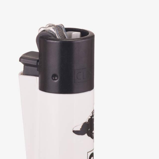 Nebelkind Clipper® Feuerzeug Bundle 5 Stück in weiß