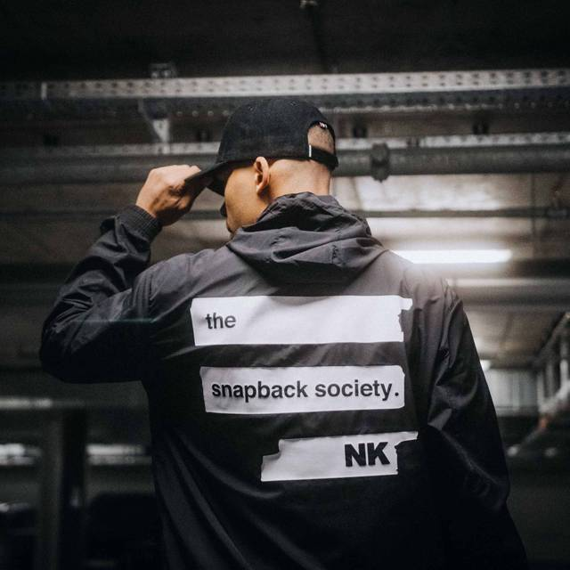 "Nebelkind Light Jacket ""Snapback Society"" Black in black"