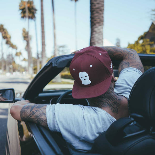 Nebelkind Balaclava Snapback in wine red