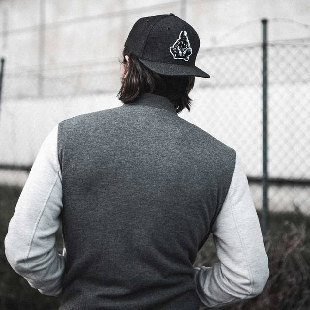 Nebelkind Black Denim Snapback in black