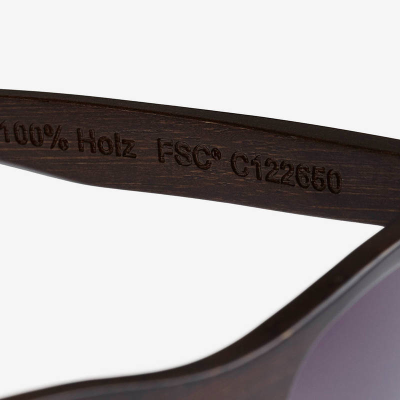 Nebelkind Bamboobastic darkbrown Sunglasses in Stained dark brown
