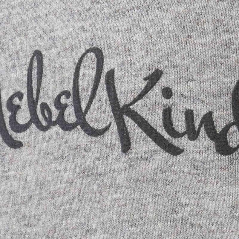 Nebelkind Basic Rolled Sleeve Shirt Female Grey in gray melange