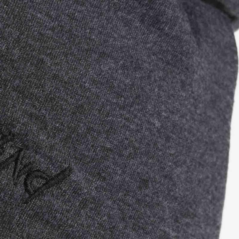 Nebelkind Summer Beanie Grey with Logo in anthracite