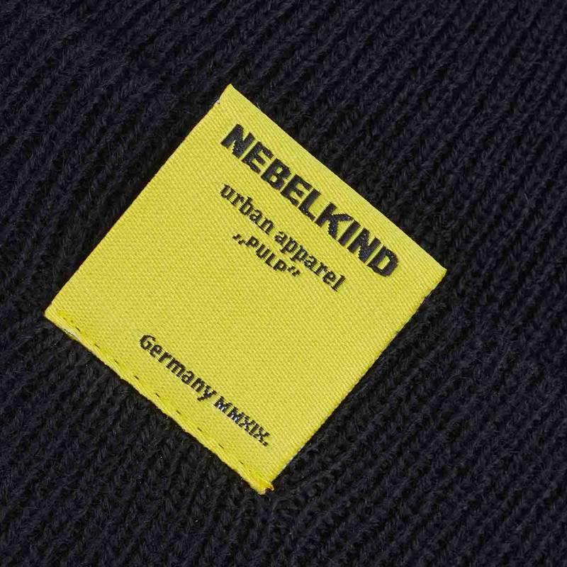 "Nebelkind Beanie ""Pulp"" in black"